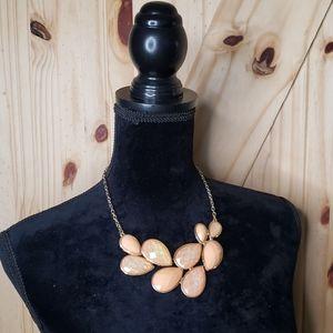 Fashion Jewelry Necklace Gold w Peach Bead *READ